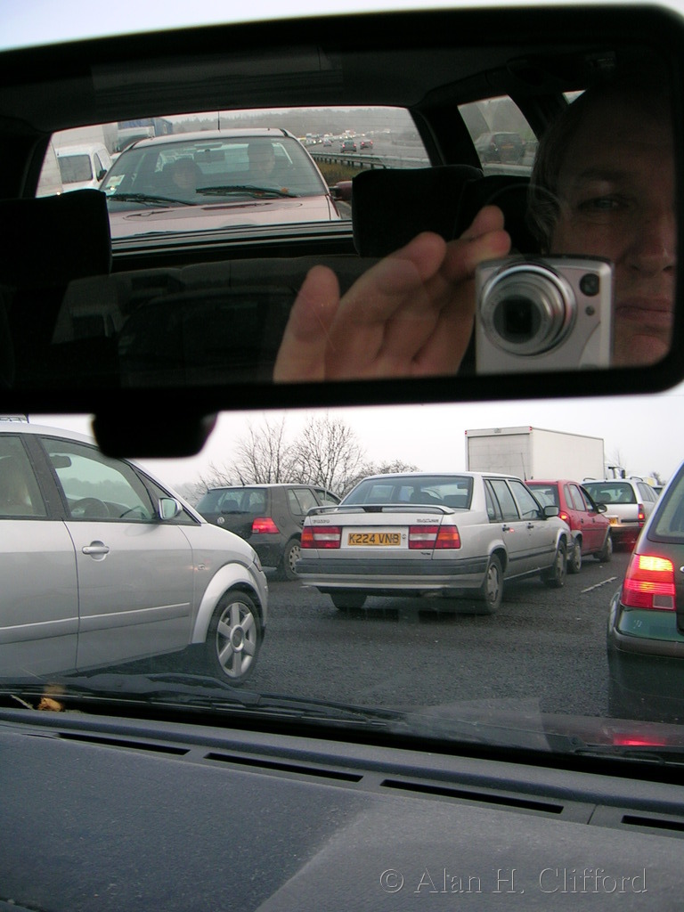 Potential mirror project shot in an A3 traffic jam