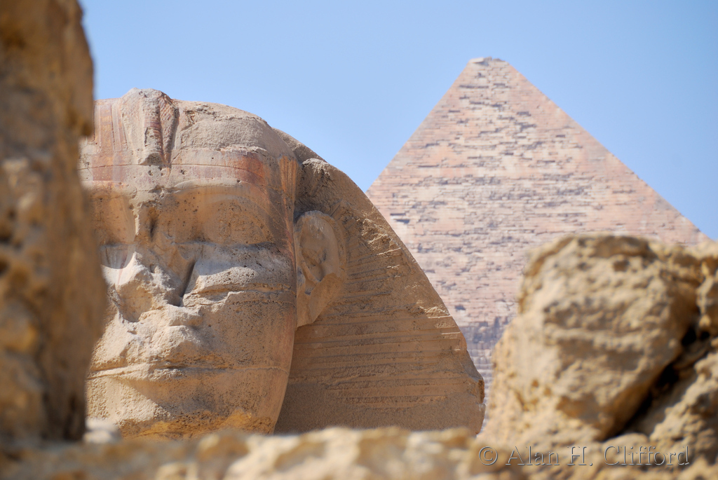 The Sphinx and the Khafre Pyramid