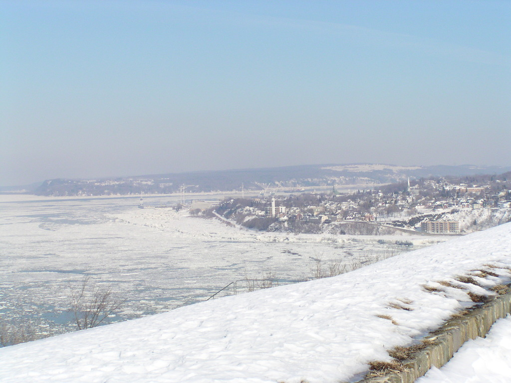 St. Lawrence river seen from the Citadelle wall